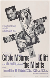 """The Misfits (United Artists, 1961). Fine/Very Fine on Linen. One Sheet (27"""" X 41.5""""). Drama"""