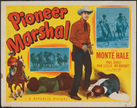 """Pioneer Marshal & Other Lot (Republic, 1949). Rolled, Fine. Half Sheets (2) (22"""" X 28""""). Western. ... (Tot..."""