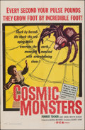 """Movie Posters:Science Fiction, Cosmic Monsters (DCA, 1958). Folded, Very Fine-. One Sheet (27"""" X 41""""). Science Fiction.. ..."""