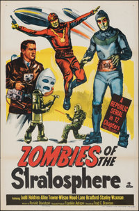 """Zombies of the Stratosphere (Republic, 1952). Folded, Fine+. One Sheet (27"""" X 41""""). Serial"""