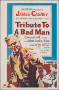 """Movie Posters:Western, Tribute to a Bad Man (MGM, 1956). Folded, Fine/Very Fine. One Sheet (27"""" X 41"""") & Australian One Sheet (27"""" X 40""""). Western.... (Total: 2 Items)"""