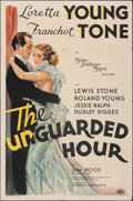 """Movie Posters:Crime, The Unguarded Hour (MGM, 1936). Folded, Fine/Very Fine. One Sheet (27"""" X 41"""") Ted """"Vincentini"""" Ireland Artwork. Crime.. ..."""