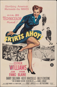 """Skirts Ahoy! & Other Lot (MGM, 1952). Folded, Overall: Fine/Very Fine. One Sheets (2) (27"""" X 41""""). Comedy..."""