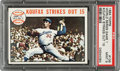 Baseball Cards:Singles (1960-1969), 1964 Topps World Series Game 1 (Koufax Strikes Out 15) #136 PSA Mint 9 - None Higher. ...
