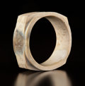 Carvings, A Chinese Archaistic Jade Cong. 1-5/8 x 4-1/4 inches (1.6 x 10.8 cm). ...