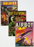 Golden Age (1938-1955):War, Golden Age War Comics Group of 9 (Various Publishers, 1942-53) Condition: Average VG/FN.... (Total: 9 )
