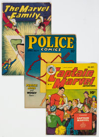 Golden Age Superhero Comics Group of 5 (Various Publishers, 1940s-50s) Condition: Average VG+.... (Total: 5 Comic Books)