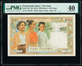 French Indochina Institut d'Emission des Etats, Vietnam 100 Piastres = 100 Dong ND (1954) Pick 108 PMG Extremely Fine 40...