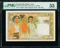 French Indochina Institut d'Emission des Etats, Laos 100 Piastres = 100 Kip ND (1954) Pick 103 PMG About Uncirculated 55...