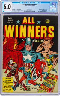 All Winners Comics #2 (Timely, 1941) CGC FN 6.0 Light tan to off-white pages