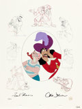 """Animation Art:Limited Edition Cel, Peter Pan """"Hook and Smee"""" Limited Edition Signed by Frank and Ollie (Walt Disney, 1998)...."""