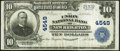 National Bank Notes:Pennsylvania, New Brighton, PA - $10 1902 Plain Back Fr. 627 The Union National Bank Ch. # 4549 Very Fine.. ...