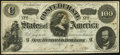 Confederate Notes:1862 Issues, Fully Framed T49 $100 1862 Fine-Very Fine.. ...
