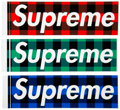Collectible, Supreme . Buffalo Plaid Stickers, set of three, 2007. Offset lithographs on adhesive stickers. 2-1/4 x 8 inches (5.7 x 2... (Total: 3 Items)
