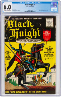 Black Knight #1 (Atlas, 1955) CGC FN 6.0 Off-white to white pages