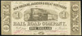 Obsoletes By State:Louisiana, New Orleans, LA- New Orleans, Jackson & Great Northern Rail Road Company $1 Nov. 16, 1861 Fine.. ...