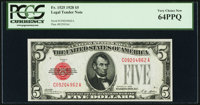 Fr. 1525 $5 1928 Legal Tender Note. PCGS Very Choice New 64PPQ