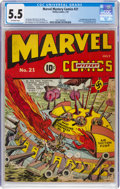 Golden Age (1938-1955):Superhero, Marvel Mystery Comics #21 (Timely, 1941) CGC FN- 5.5 Off-white pages....