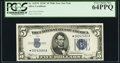 Fr. 1653* $5 1934C Wide Face Silver Certificate. PCGS Very Choice New 64PPQ
