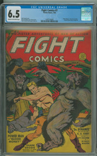 Fight Comics #7 (Fiction House, 1940) CGC FN+ 6.5 Cream to off-white pages