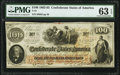 Confederate Notes:1862 Issues, T41 $100 1862 PMG Choice Uncirculated 63 EPQ.. ...