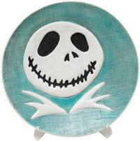 Tim Burton's The Nightmare Before Christmas Jack Skellington Limited Edition Charger Bowl by Brenda White Prototype (W...