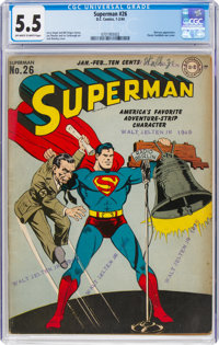 Superman #26 (DC, 1944) CGC FN- 5.5 Off-white to white pages