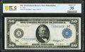 Fr. 1035 $50 1914 Federal Reserve Note PCGS Banknote Choice VF 35