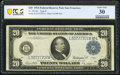 Fr. 1011b $20 1914 Federal Reserve Note PCGS Banknote Very Fine 30