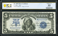 Fr. 280 $5 1899 Mule Silver Certificate PCGS Banknote Choice VF 35