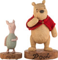 """Animation Art:Maquette, Winnie the Pooh and Piglet """"Disney Big"""" Figures Group of 2 (Walt Disney, 1990s).... (Total: 2 Items)"""