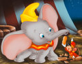 """Animation Art:Production Drawing, """"The Art of Dumbo"""" Illustration by Don """"Ducky"""" Williams (Walt Disney, c. 1990s)...."""