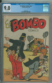 El Bombo Comics #1 (Standard, 1946) CGC VF/NM 9.0 Off-white pages