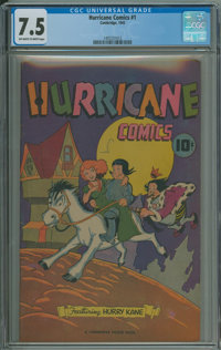 Hurricane Comics #1 (Cambridge House / Superior Publishers, 1945) CGC VF- 7.5 Off-white to white pages
