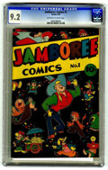 Golden Age (1938-1955):Funny Animal, Jamboree Comics #1 (Round, 1946) CGC NM- 9.2 Off-white to white pages.