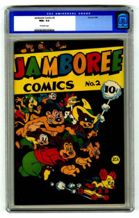 Jamboree Comics #2 (Round, 1946) CGC NM+ 9.6 Off-white pages