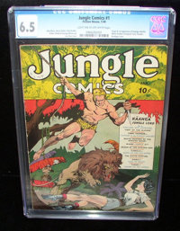 Jungle Comics #1 (Fiction House, 1940) CGC FN+ 6.5 Light tan to off-white pages