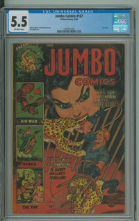 Jumbo Comics #167 (Fiction House, 1953) CGC FN- 5.5 Off-white pages