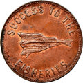 "Canada, Canada: Prince Edward Island ""Speed the Plough/Success to the Fisheries"" Token ND (1860) MS64 Brown NGC,..."
