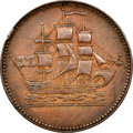"Canada, Canada: Prince Edward Island ""Ships Colonies & Commerce"" 1/2 Penny Token ND (1835) AU58 Brown NGC,..."