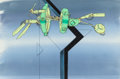 Animation Art:Production Cel, Akira Tetsuo Production Cel and Preliminary Background (Streamline Pictures, 1988)....