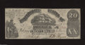 Confederate Notes:1861 Issues, T18 $20 1861. The CCs have been repaired with four stamp ...