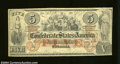 Confederate Notes:1861 Issues, T31 $5 1861. A nice mid-grade circulated example that has ...