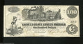 Confederate Notes:1862 Issues, T39 $100 1862. True circulation folds are few on this ...