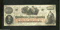 Confederate Notes:1862 Issues, T41 $100 1862. This Scroll 1 note doesn't show a trace of ...
