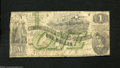 Confederate Notes:1862 Issues, T45 $1 1862. Sound edges for the grade are found on this ...