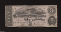 Confederate Notes:1862 Issues, T53 $5 1862. A Criswell number has been pencilled on the ...