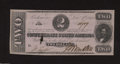 Confederate Notes:1862 Issues, T54 $2 1862. This note was able to avoid circulation, ...