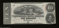 Confederate Notes:1863 Issues, T59 $10 1863. A faint corner fold is revealed on this $10 ...