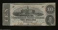 Confederate Notes:1863 Issues, T59 $10 1863. Light handling and some light aging account ...